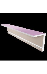 Osłona karnisza L 15,5 CM X 25 CM z wnęką na oświetlenie LED Długość 120 CM