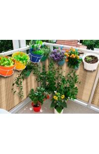 Osłony balkonowe z technorattanu - ekologiczne materiały budowlane